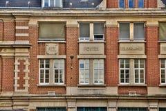 Somme den pittoreska staden av Amiens Arkivfoto