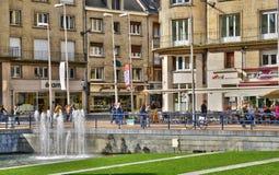 Somme den pittoreska staden av Amiens Arkivbild