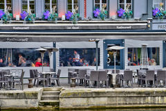 Somme den pittoreska staden av Amiens Arkivbilder