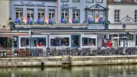 Somme, la città pittoresca di Amiens Immagini Stock Libere da Diritti