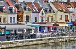 Somme, la ciudad pintoresca de Amiens Fotografía de archivo