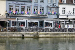 Somme, the picturesque city of Amiens Stock Image