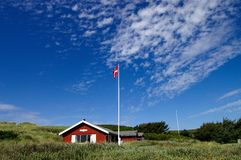 Sommehus with sky. A sommerhouse in Denmark with blue sky Royalty Free Stock Images