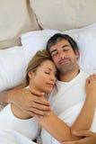 Sommeil affectueux de couples Images stock