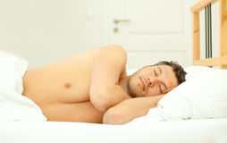 Sommeil d'homme Photo stock