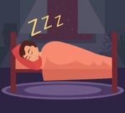 sommeil d'homme de bâti Images stock