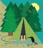 Sommeil dans le camping Photographie stock libre de droits