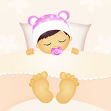sommeil de bébé Photos stock