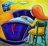 Sommeil de bébé de sommeil Illustration Libre de Droits