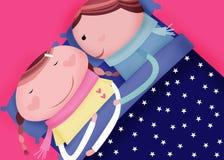 Sommeil de bonne nuit illustration libre de droits