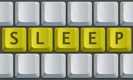 Sommeil de clavier Photographie stock libre de droits