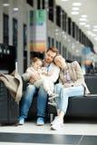 Sommeil de famille Images libres de droits