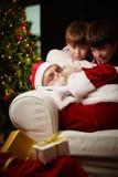 Sommeil de Noël Photos stock