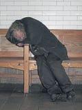 Sommeil de personne sans foyer Image stock