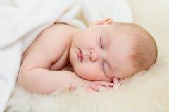 Sommeil infantile d'enfant de bébé nouveau-né Photographie stock libre de droits