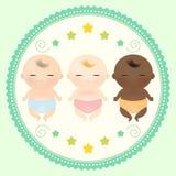 Sommeil multiculturel de bébés Photographie stock
