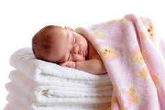 sommeil nouveau-né Images libres de droits