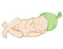 Sommeil nouveau-né Photos libres de droits