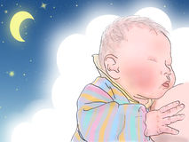 Sommeil nouveau-né Images stock