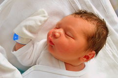 Sommeil nouveau-né de chéri Photo libre de droits
