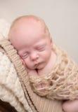 Sommeil nouveau-né sur la chaise photo libre de droits