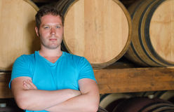 Sommelier with arms crossed Stock Images
