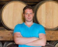 Sommelier with arms crossed Royalty Free Stock Photography