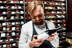 Sommelier choosing wine Stock Photography
