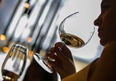 Sommelier del vino imagenes de archivo