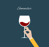 Sommelier. Flat illustration Stock Image