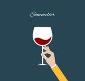 Sommelier. Flat illustration Stock Image