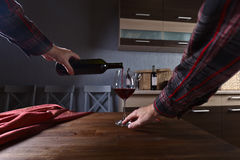 Sommelier pouring red wine into a glass Royalty Free Stock Photo