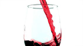 Sommelier pours  wine into a glass. Sommelier pours red wine into a glass stock video