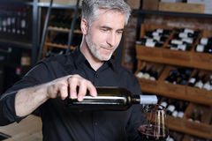 Sommelier tasting red wine Royalty Free Stock Photography
