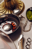 Sommeliers utensils for tasting wine Royalty Free Stock Photography