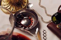 Sommeliers utensils for tasting wine Royalty Free Stock Images