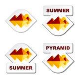 Sommerägypten-Pyramideaufkleber Stockfoto