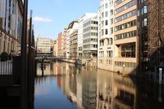 Sommer à Hambourg, mur d'Alster image libre de droits