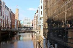 Sommer à Hambourg, mur d'Alster images libres de droits