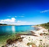 Sommer-adriatischer Meerblick in Kroatien Lizenzfreie Stockfotos