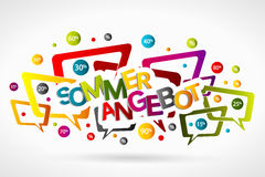 Sommer angebot Stock Photo