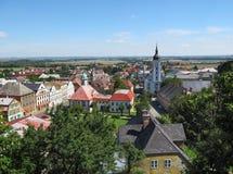 Sommer-Ansicht von Javornik-Stadt Lizenzfreie Stockfotos