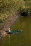 Sommer auf dem Fluss Stockbild