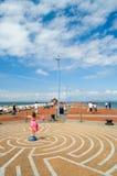 Sommer auf dem Pier am morecombe Lizenzfreies Stockfoto