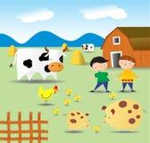 Sommer auf einem Bauernhof Stockfotos