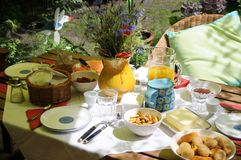 Sommer-Brunch Stockfotografie