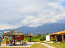 Sommer-Café Stockfoto