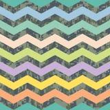 Sommer Chevron auf Fall Camo Hintergrund-Muster Stockfotografie