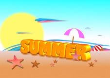 Sommer 3d Lizenzfreies Stockfoto