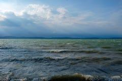 Sommer in dem ungarischen Meer Stockfotografie